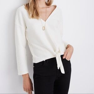 Madewell Texture & Thread Tie-Front Top